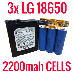 3 LG 18650 2200MAH CELLS IN MODEM BATTERIES