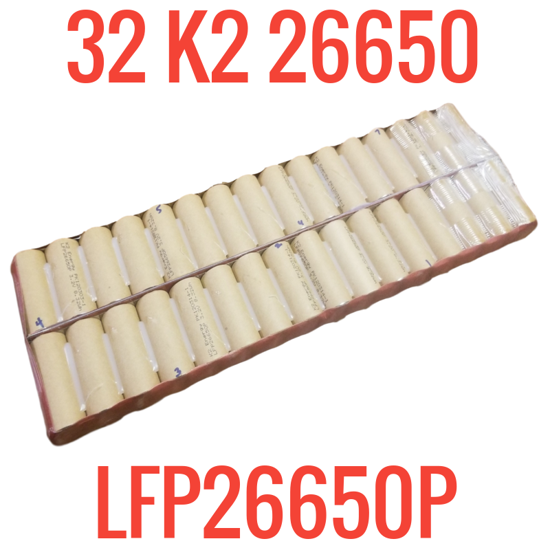 One bad row - Battery Pack with 32 K2 LFP26650P cells