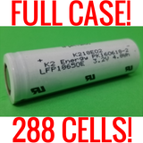 FULL CASE of 288 K2 18650 LFP18650E 1500mah Lifepo4 Batteries (New)
