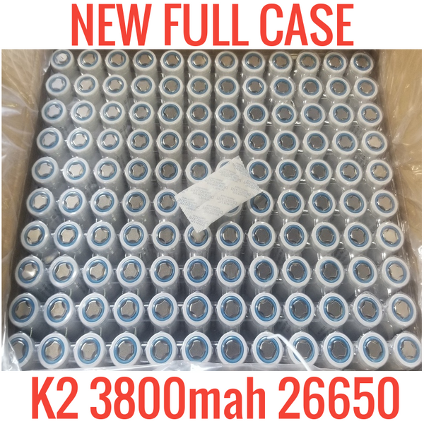 Full Case of 120 K2 26650 3800mah Lifepo4 Cells