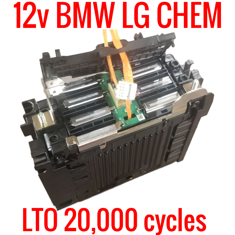 12v LTO BMW LG Chem 20,000 cycles! 6 cells! Complete