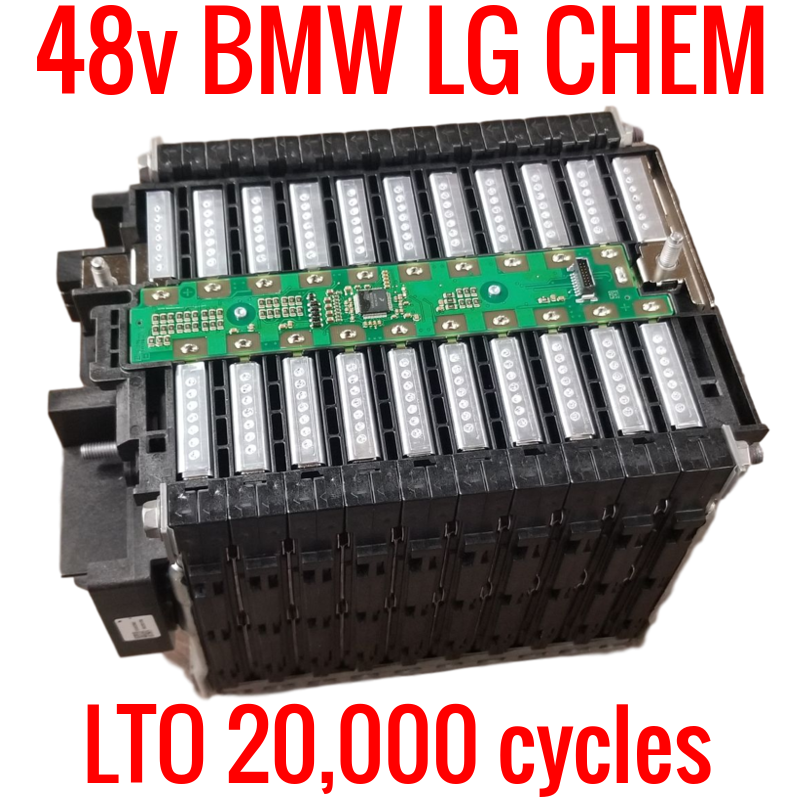 48v LTO BMW LG Chem 20,000 cycles! 20 cells! Complete