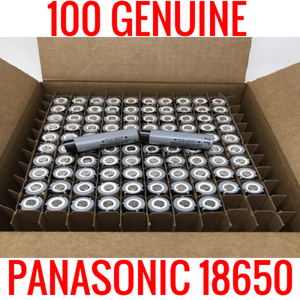 100 Panasonic NCR18650 Cells Capacity Tested at 2500-2600MAH