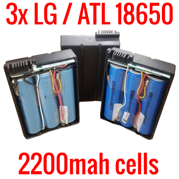 3 LG / ATL 18650 2200MAH CELLS IN PEGATRON MODEM BATTERIES
