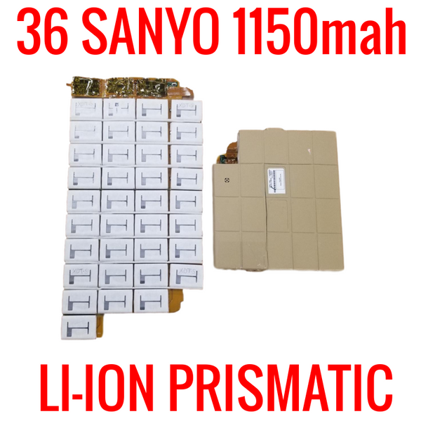 PACK WITH 36 SANYO 1150mah LITHIUM ION