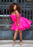 TYRA PINK TULLE DRESS