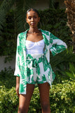 HANNAH BOTANICAL PRINT BLAZER SHORT SET