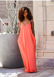 Natasha Maxi Dress- Tangerine