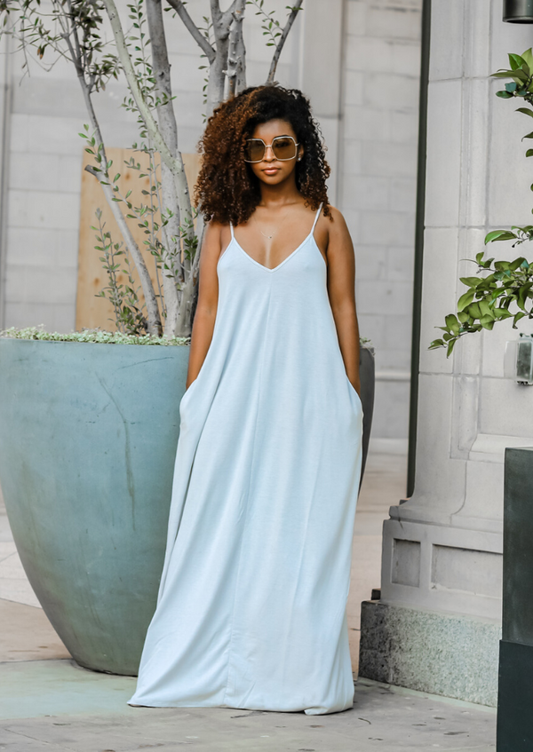Natasha Maxi Dress- Ash Grey