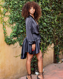 IMANI BLACK WRAP DRESS