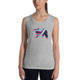 The DO Like a BEAR abstract Ladies' Muscle Tank