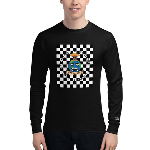 TSTO checkered globe Champion Long Sleeve Shirt
