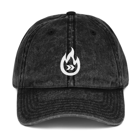 Burn Your Plans clear white logo Vintage Dad Hat