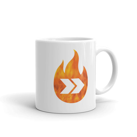 Burn Your Plans logo Mug