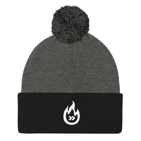 Burn Your Plans logo Pom Pom Knit Cap