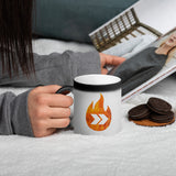 Burn Your Plans logo Matte Black Magic Mug