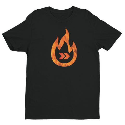 Burn Your Plans clear logo Short Sleeve T-shirt