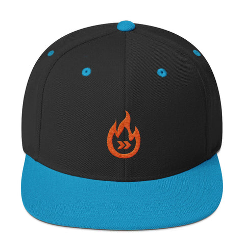 Burn Your Plans clear logo Snapback Hat