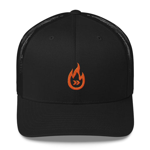 Burn Your Plans clear logo Trucker Cap