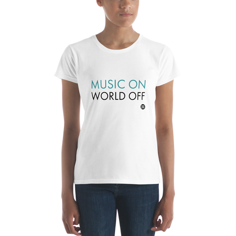 The MUSIC ON Women's short sleeve t-shirt