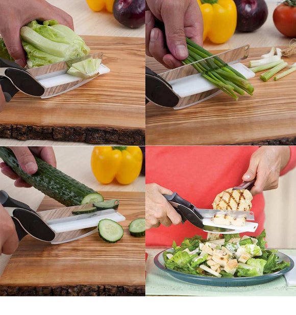2 in 1 Cutting Board and Knife Scissors