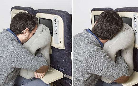 Air inflatable travel pillow