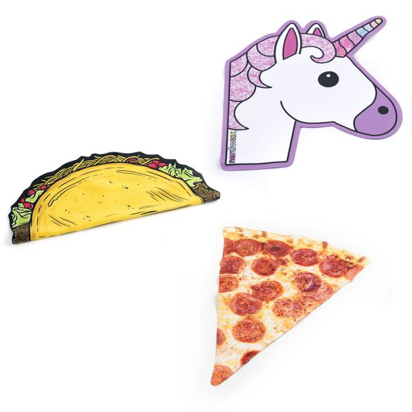 micro fiber cleaning cloth glasses screen pizza taco unicorn nerdwax