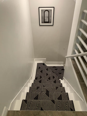 How to measure stair runners with 90 Degree Turns