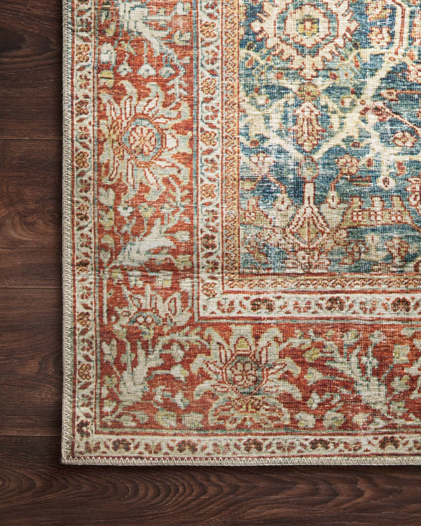 Loloi II LAYLA LAY-04 OCEAN/RUST Rug – Rugs Done Right