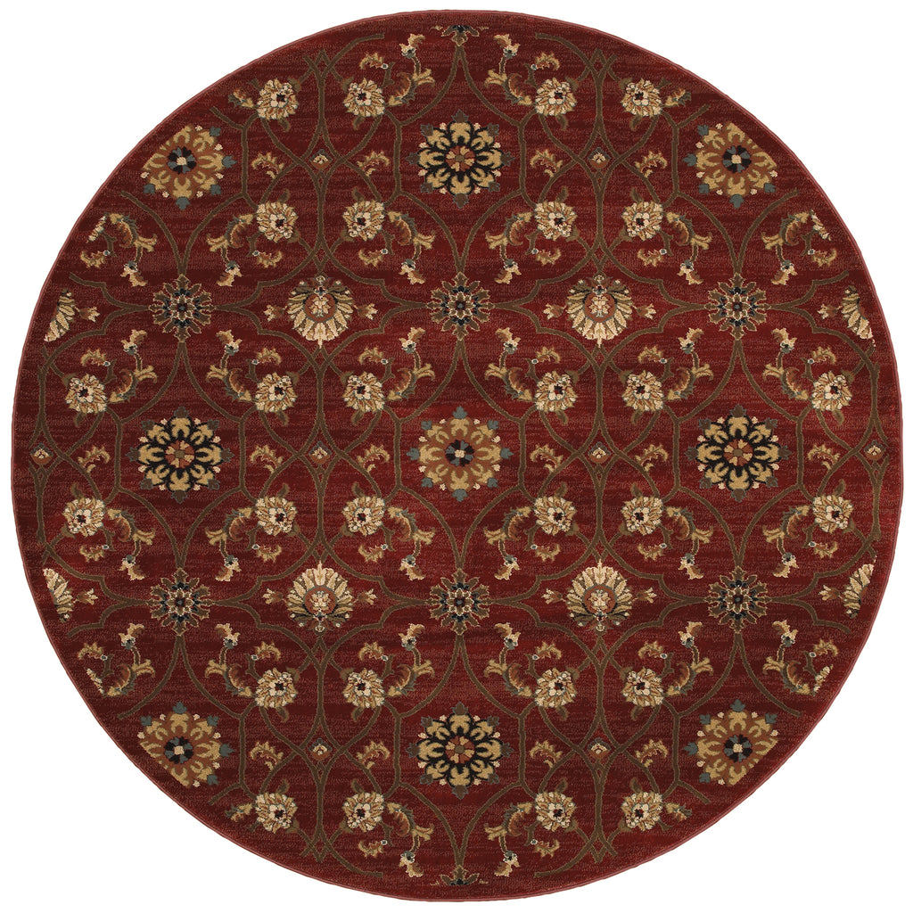 Oriental Weavers Sphinx Division Hudson 3299a Red Rug