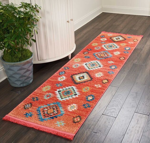 Nourison Navajo Nav07 Red Rug Rugs Done Right