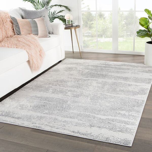 Jaipur Living Jewlia Abstract Gray White Rug Tresca Trs01