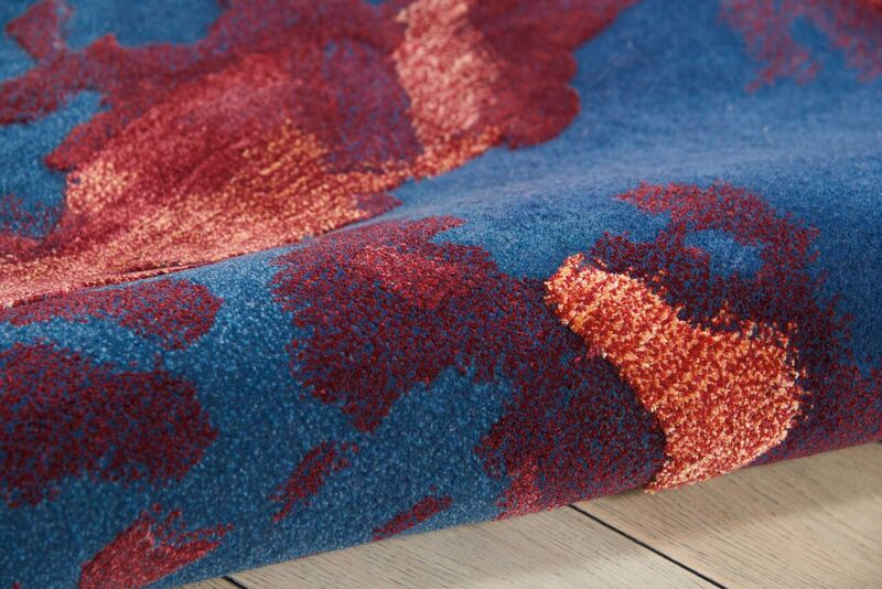 Nourison Prismatic Prs13 Blue Rug Rugs Done Right