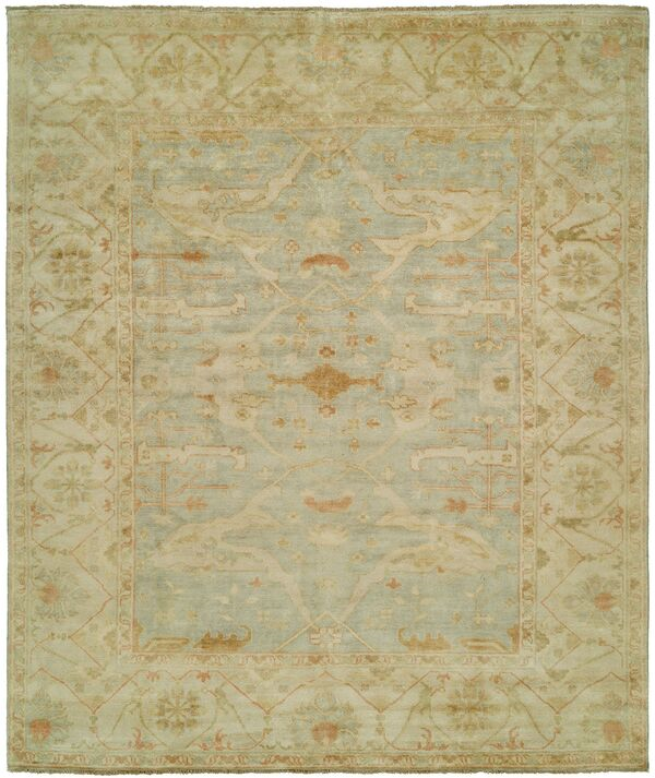 Shalom Brothers Oushak Ou30 Light Blue Rug Rugs Done Right