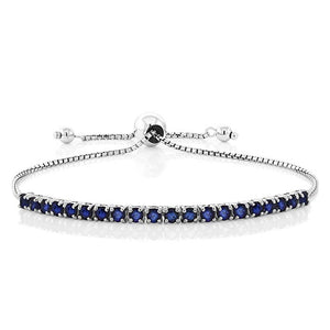 Swarovski Crystals 7.00 CT Diamond Created Adjustable  Bracelet
