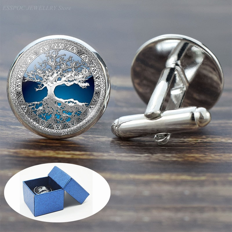 Tree of Life Cufflinks for Men Best Man Cufflinks Set Cufflinks Wedding Life Tree Suit Shirt Silver Cuff Links Men Accessories SALE!