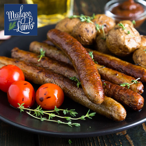 Grass Fed Lamb Sausages - Gluten Free