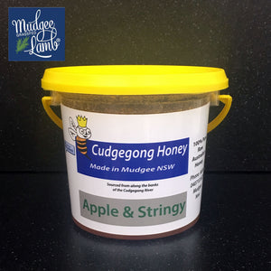 Cudgegong Raw Honey 1kg Tub.