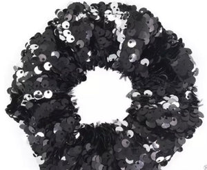 Bling Hair Accessories - scrunchies black
