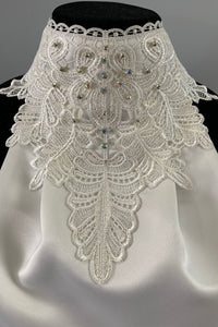 Set ~ Nina lace Clear crystal and iridescent browband with stock tie