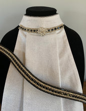 Set ~  Black and clear crystal browband with stock tie