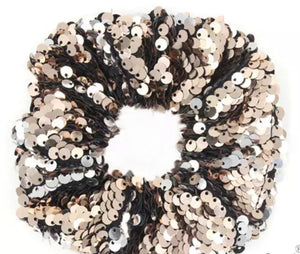 Bling Hair Accessories - scrunchies champagne
