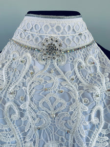 Ladies Lace and crystal stock tie