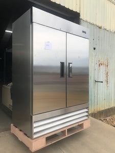 Double Door Stainless Freezer