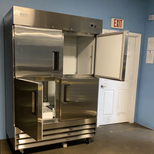 Double Split Stainless Steel Freezer