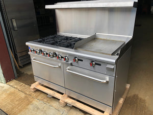 "Brand new 60"" stove w/24"" griddle"
