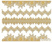 Gold Lace Stickers - Luxury Beauty