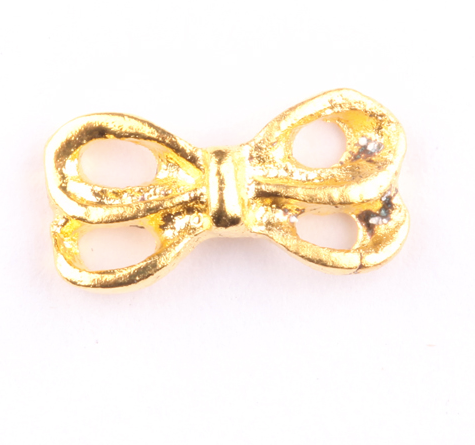 Gold Double Bow Charm - Luxury Beauty