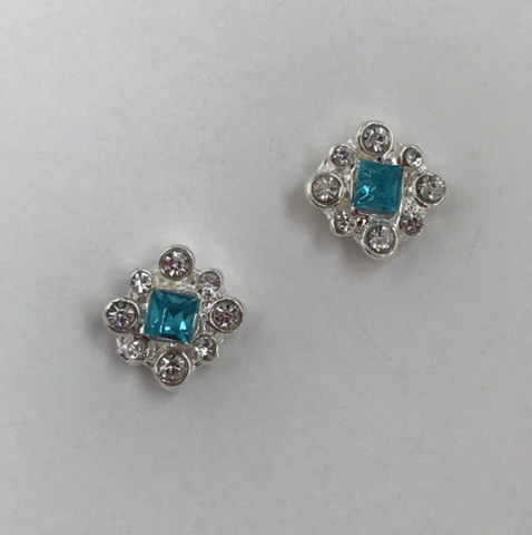 Blue Gem with mini diamonds - Luxury Beauty