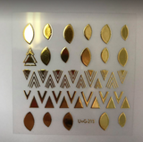 Gold Dotted Stickers - Luxury Beauty